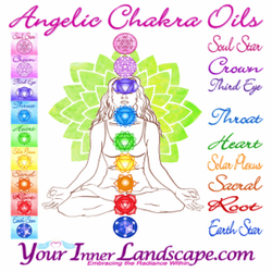 Angelic chakra Oils www.yourinnerlandscape.com